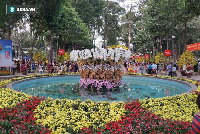 Người Sài Gòn đổ về trung tâm chờ xem pháo hoa đón giao thừa Tết Kỷ Hợi 2019 - Ảnh 2.