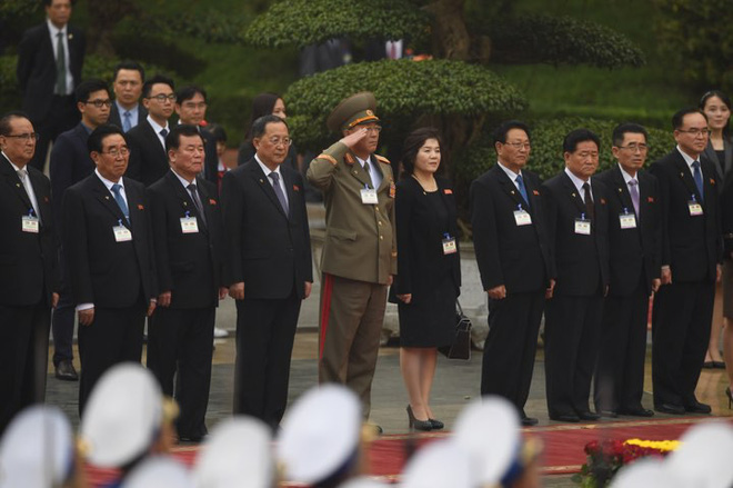 Toàn cảnh Lễ đón Chủ tịch Triều Tiên Kim Jong Un thăm chính thức Việt Nam - Ảnh 8.