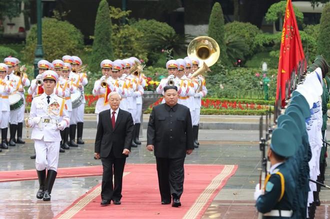 Toàn cảnh Lễ đón Chủ tịch Triều Tiên Kim Jong Un thăm chính thức Việt Nam - Ảnh 10.