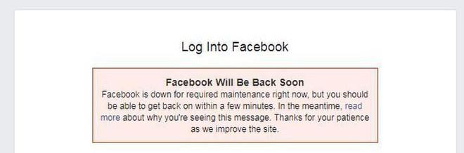 Facebook tạm thời bị đóng cửa vì lý do không ai ngờ - Ảnh 1.