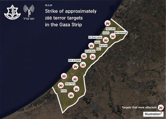Vì 2 quả tên lửa tự chế, Israel không kích vào 100 mục tiêu trên dải Gaza - ảnh 2