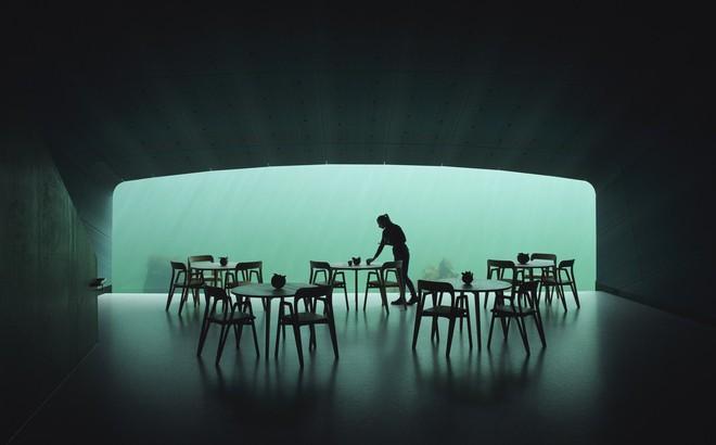 Có gì bên trong nhà hàng nằm dưới biển?