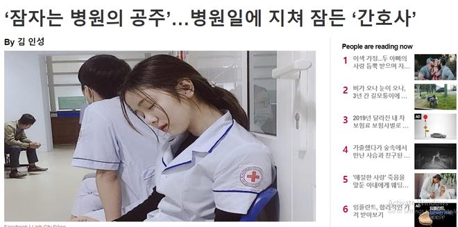 Nữ điều dưỡng Việt Nam ngủ gật xuất hiện trên báo Hàn Quốc: Công chúa trong bệnh viện - Ảnh 3.