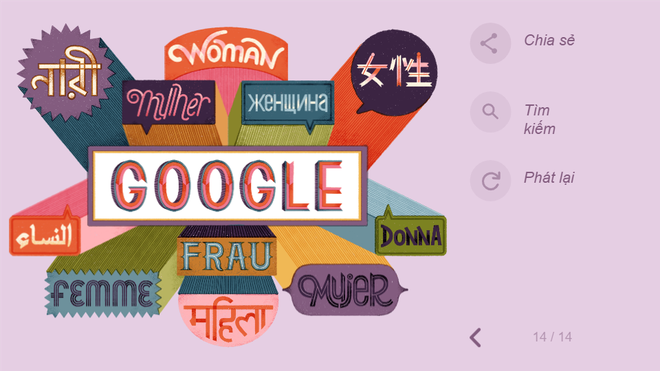 Google tôn vinh 8/3 theo cách không thể đặc biệt hơn: Thiết kế hình ảnh chưa từng có - Ảnh 16.