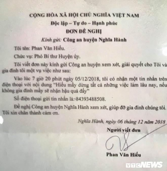 Quảng Ngãi: Điều chuyển công tác Phó Bí thư huyện bị nhắn tin đe dọa - Ảnh 2.