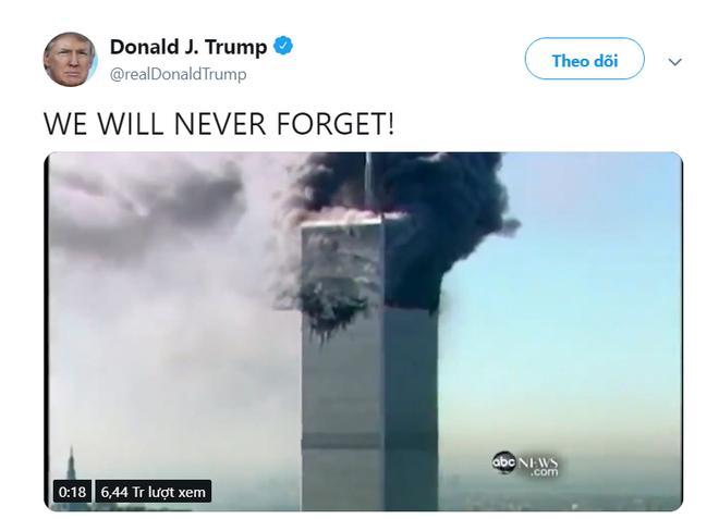 Ông Trump đăng nội dung chấn động về vụ 11/9: TNS Mỹ phản pháo, lo ngại cho tính mạng của người trong video - Ảnh 1.