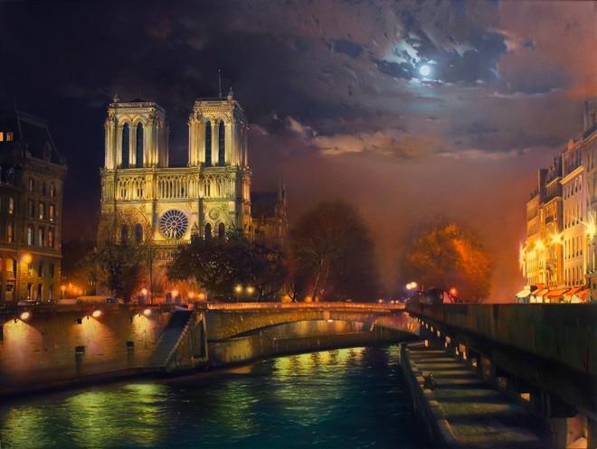 Nhà thờ Đức Bà Paris nổi bật giữa lòng thủ đô. Ảnh: Internet