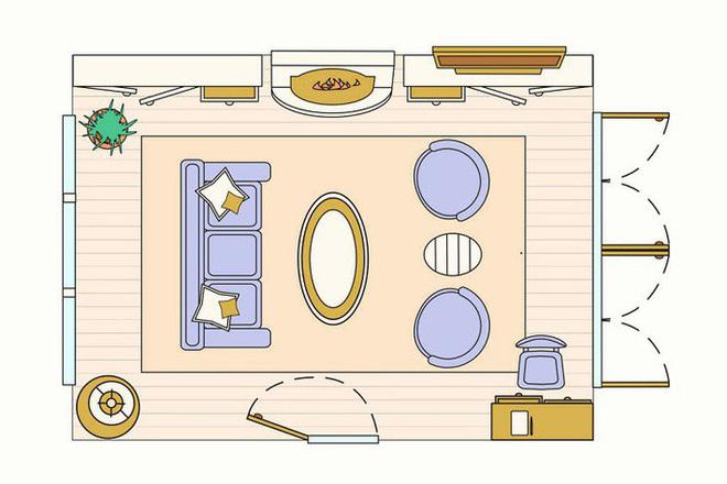 Có 10 bản vẽ thiết kế phòng khách cực tỉ mỉ này thì bạn còn lo gì việc trăn trở xem bố trí phòng khách thế nào cho hợp lý - Ảnh 3.