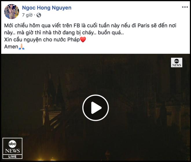 Sao Việt đau xót cầu nguyện trước cảnh tượng Nhà thờ Đức Bà Paris chìm trong biển lửa - Ảnh 11.