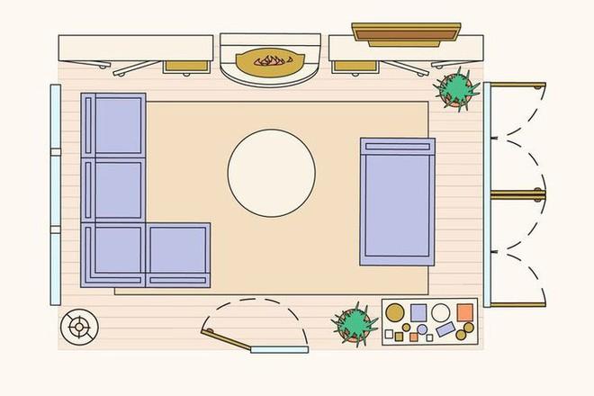 Có 10 bản vẽ thiết kế phòng khách cực tỉ mỉ này thì bạn còn lo gì việc trăn trở xem bố trí phòng khách thế nào cho hợp lý - Ảnh 6.