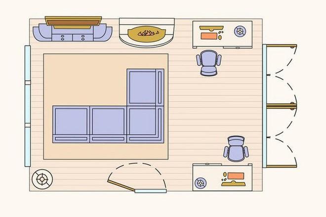 Có 10 bản vẽ thiết kế phòng khách cực tỉ mỉ này thì bạn còn lo gì việc trăn trở xem bố trí phòng khách thế nào cho hợp lý - Ảnh 7.