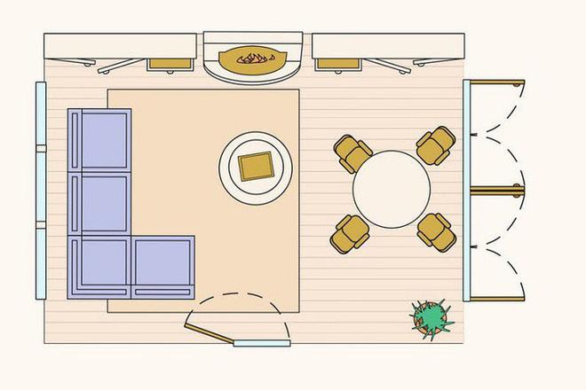 Có 10 bản vẽ thiết kế phòng khách cực tỉ mỉ này thì bạn còn lo gì việc trăn trở xem bố trí phòng khách thế nào cho hợp lý - Ảnh 11.