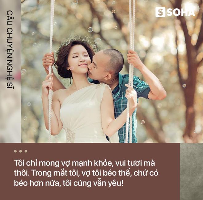 Vợ tăng gần 30kg biến thành 1 người khác, diễn viên Việt nổi tiếng vẫn bày tỏ tình yêu thế này! - Ảnh 1.