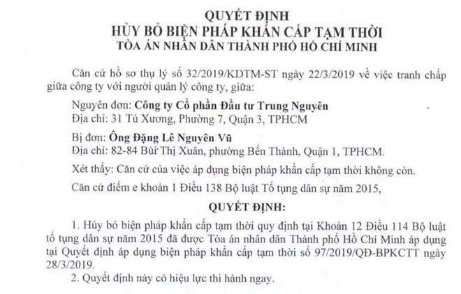 Khiếu nại của ông Đặng Lê Nguyên Vũ được tòa án chấp nhận - ảnh 1