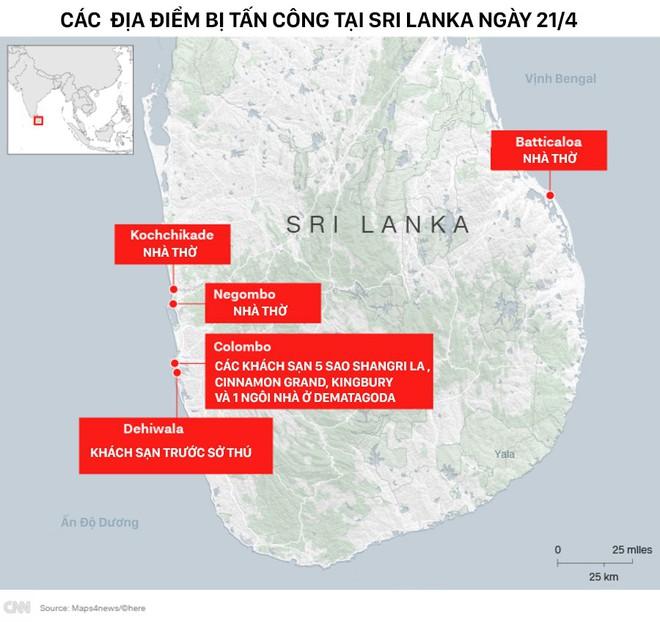Lễ Phục sinh đẫm máu: Gần 300 người thiệt mạng, Sri Lanka đối mặt thảm kịch bạo lực tồi tệ nhất kể từ nội chiến - Ảnh 2.