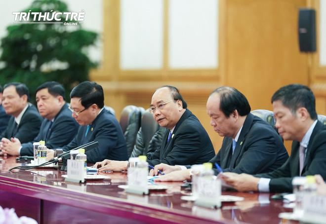 Thủ tướng hội kiến Tổng bí thư, Chủ tịch nước Trung Quốc Tập Cận Bình - Ảnh 4.
