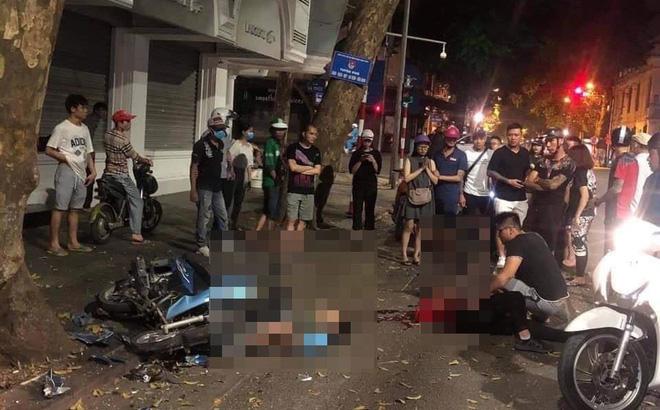 Hà Nội: 2 nam thanh niên đi xe máy tự đâm vào gốc cây lúc rạng sáng nguy kịch