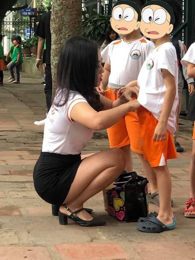 Cô giáo mầm non gây chú ý sau bức ảnh chụp trộm góc nghiêng - Ảnh 3.