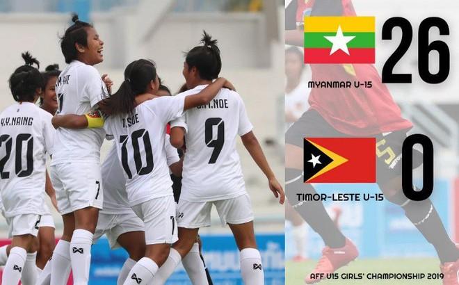 Đội bóng sắp đấu Việt Nam gây kinh ngạc khi thắng đậm tới… 26-0