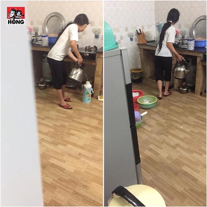 Cầm gậy rình chuột lúc 4 giờ sáng, chàng trai lặng người khi thấy cảnh tượng trong bếp - Ảnh 1.