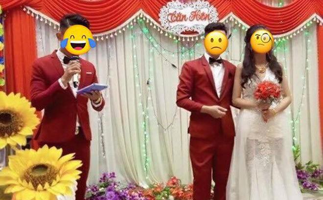 Cứ ngỡ đám cưới hoàn hảo, chú rể giật mình khi nhìn thấy bộ vest của MC