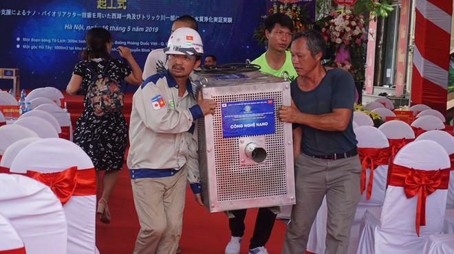 [Ảnh] Tận mắt công nghệ Nhật đặt dưới đáy, làm bay mùi hôi sông Tô Lịch chỉ sau 3 ngày - Ảnh 4.