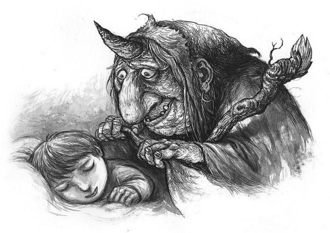 Ba Bị chín quai, mười hai con mắt: Nỗi ám ảnh đáng sợ nhất của mọi đứa trẻ - ảnh 9
