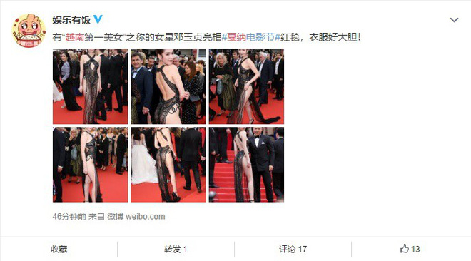 Phản ứng bất ngờ của dân mạng xứ Trung trước trang phục kiệm vải của Ngọc Trinh tại Cannes - Ảnh 5.