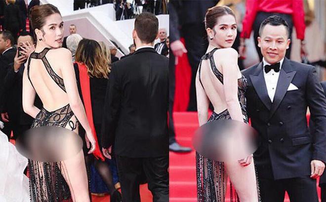 """Ngọc Trinh """"mặc như không mặc"""" xuất hiện tại thảm đỏ Cannes 2019 và phản ứng của cư dân mạng"""
