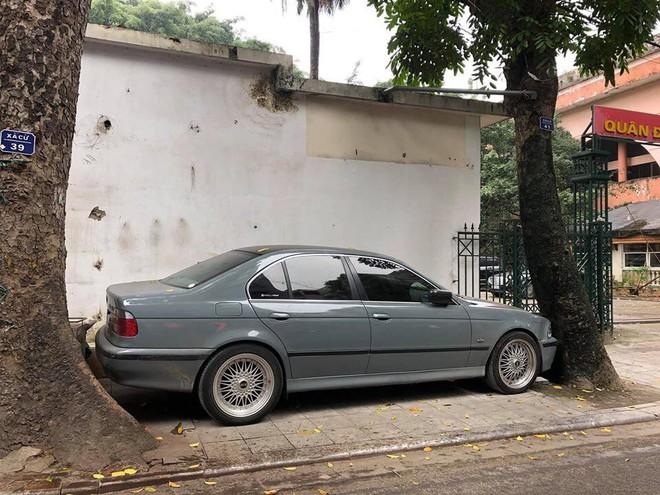 Màn đỗ xe đỉnh cao trên phố Hà Nội khiến dân mạng hoang mang: Xe hay cây có trước? - ảnh 1