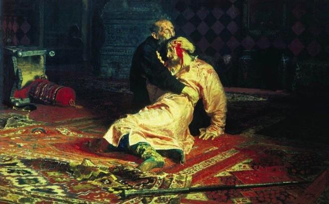"""Kiệt tác hội họa nổi tiếng: """"Ivan Bạo Chúa và con trai"""""""