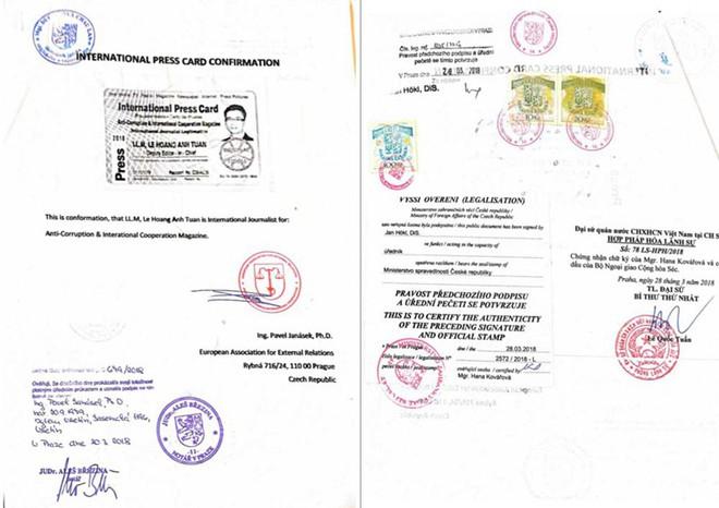 """Lần theo tổ chức cấp thẻ """"nhà báo quốc tế"""" cho ông Lê Hoàng Anh Tuấn - Ảnh 3."""