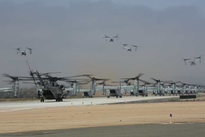 Màn biểu dương lực lượng hoành tráng của Không quân Thủy quân lục chiến Mỹ - ảnh 7