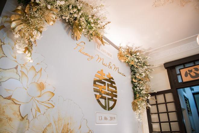Toàn cảnh lễ ăn hỏi tại nhà phố cổ của siêu mẫu Phương Mai và chồng Tây gia thế khủng  - Ảnh 6.