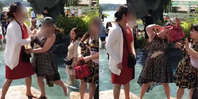 Tranh nhau vị trí chụp ảnh ở Đà Lạt, 2 phụ nữ lao vào ẩu đả ngay giữa hồ nước - Ảnh 3.
