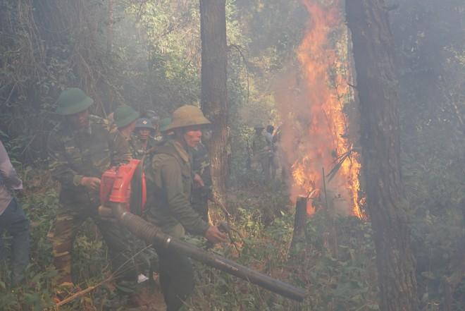 Cháy rừng ở Hà Tĩnh: Đổ cát, tưới nước lên nắp bể xăng hàng chục nghìn lít tránh cháy nổ - Ảnh 3.