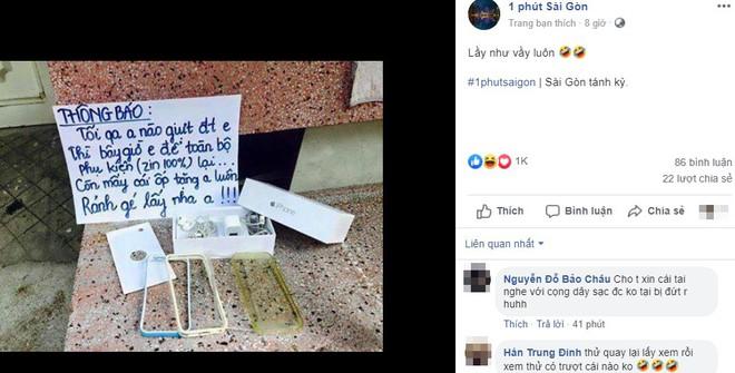 Bị giật điện thoại, chủ nhân viết bảng thông báo khiến tên trộm muốn quay lại ngay lập tức - ảnh 1