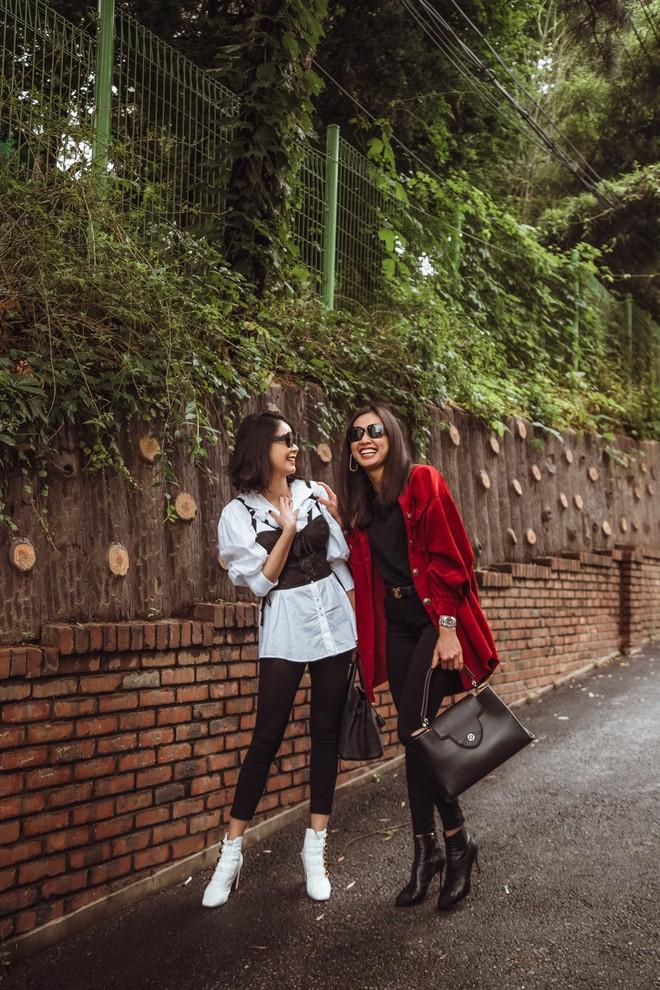 Hoa hậu Hà Kiều Anh, Dương Mỹ Linh và hội bạn thân gây náo loạn đường phố Hàn Quốc - Ảnh 6.