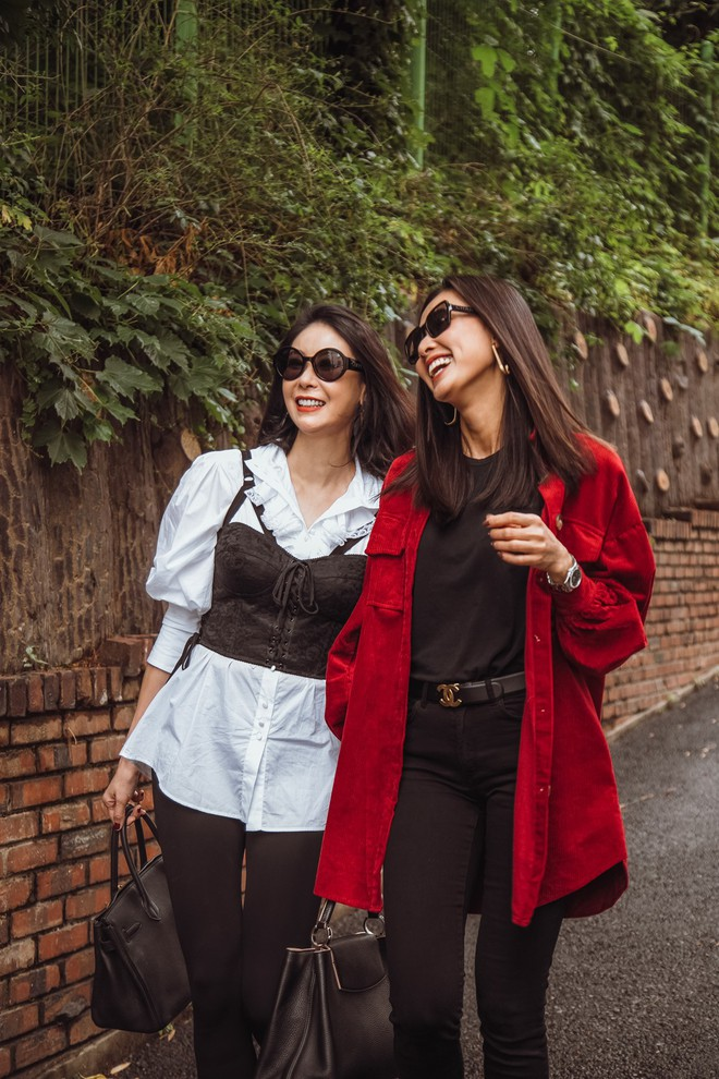 Hoa hậu Hà Kiều Anh, Dương Mỹ Linh và hội bạn thân gây náo loạn đường phố Hàn Quốc - Ảnh 8.