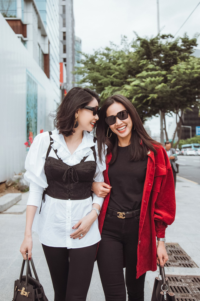 Hoa hậu Hà Kiều Anh, Dương Mỹ Linh và hội bạn thân gây náo loạn đường phố Hàn Quốc - Ảnh 5.