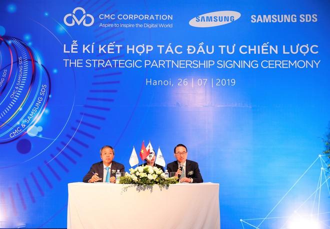 Chủ tịch CMC Nguyễn Trung Chính: Chúng tôi hợp tác chiến lược với Samsung SDS để đi xa hơn - Ảnh 1.