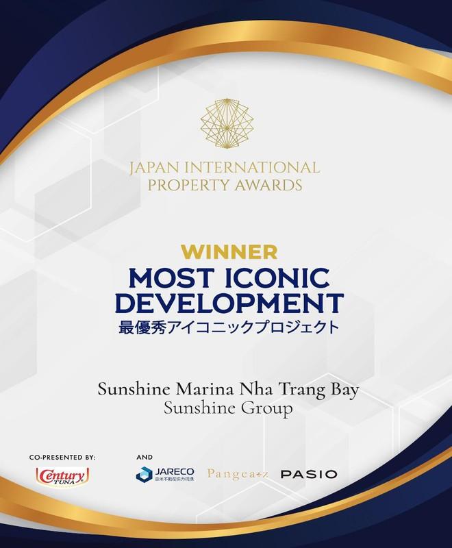"""Sunshine Marina Nha Trang Bay đạt giải """"Công trình mang tính biểu tượng phát triển xuất sắc nhất 2019"""" - Ảnh 1."""