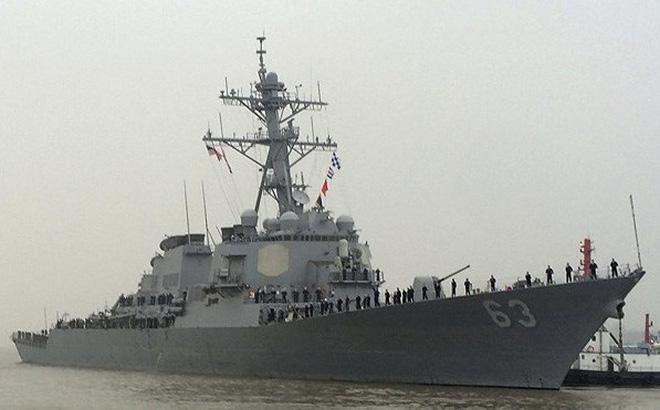 Tàu chiến Mỹ vừa đi qua eo biển Đài Loan, dàn chiến hạm Nga đã tới Trung Quốc