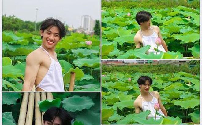 Chàng trai gây cười với bộ ảnh mặc yếm bên hoa sen, nhưng phản ứng của gia đình anh sau đó mới thực sự hài hước
