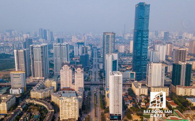 Nhìn từ trên cao, cả một 'rừng chung cư' mọc lên ở khu trung tâm phía Tây Hà Nội