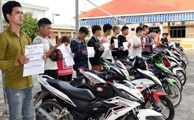 Chặn kịp thời hơn một trăm thanh niên tụ tập đua xe trái phép