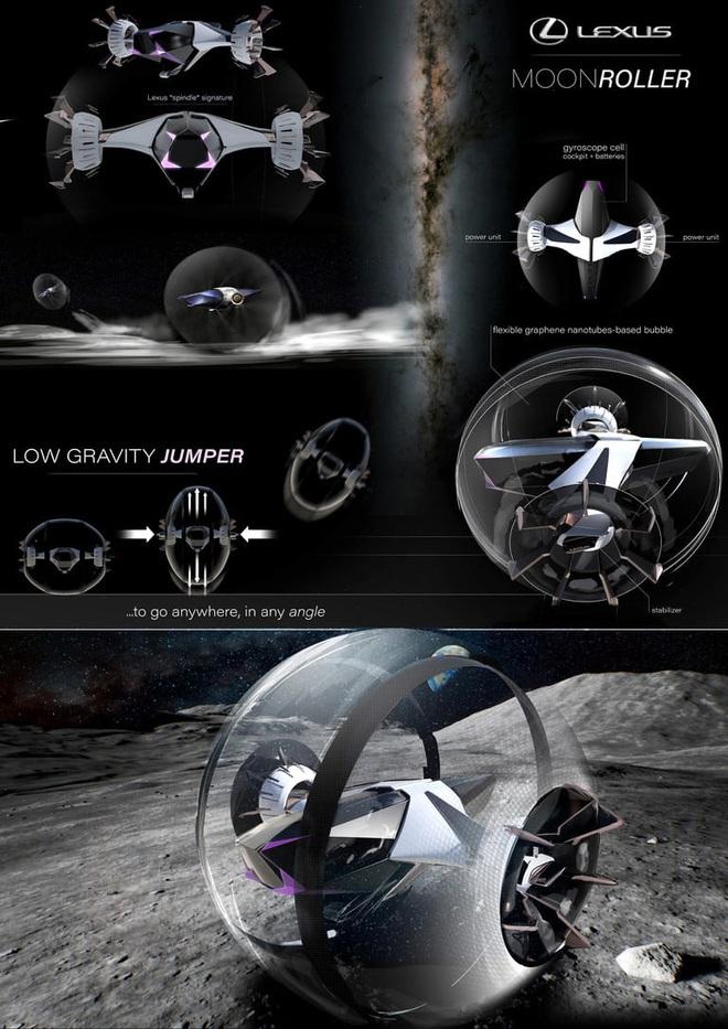 Di chuyển bằng gì trên Mặt trăng cho sang chảnh và độc đáo? Đây là câu trả lời từ Lexus - Ảnh 3.