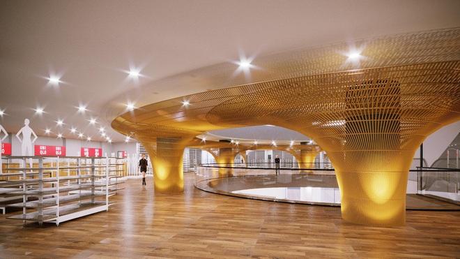 Hé lộ không gian rộng 2.500m2 của cửa hàng Uniqlo đầu tiên ở Hà Nội - Ảnh 2.