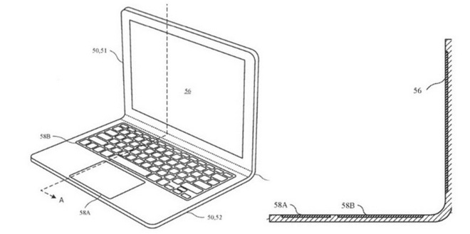 Apple hé lộ ý tưởng bằng sáng chế laptop           màn hình cong, có thể áp dụng trên MacBook trong tương lai? - Ảnh 2.