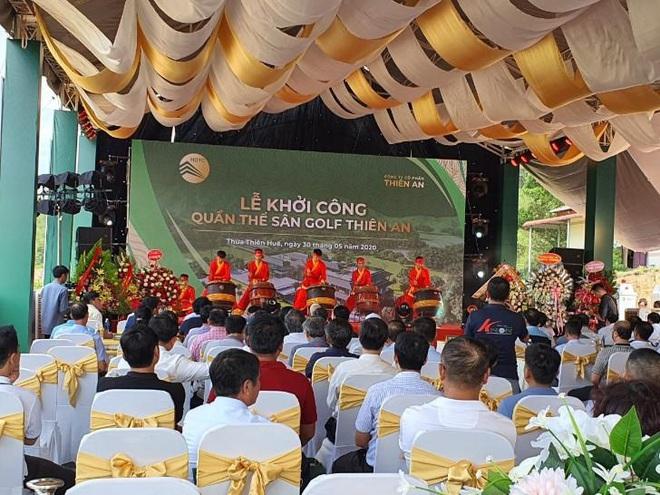 Dự án sân golf ở Huế khởi công trái phép, có lãnh đạo Tỉnh uỷ đến tham dự? - Ảnh 1.